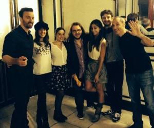 """Con los actores y el director de """"El Espacio"""""""